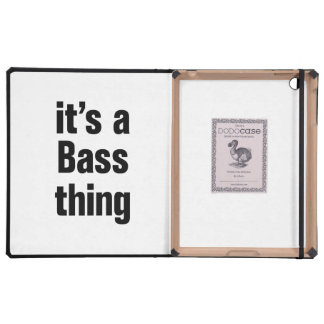 its a bass thing iPad folio cover