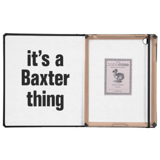 its a baxter thing iPad folio cover