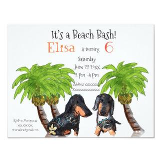 It's a  Beach Bash Birthday Invitation