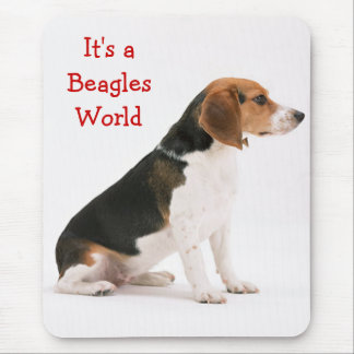 It's A Beagles World Mousepad
