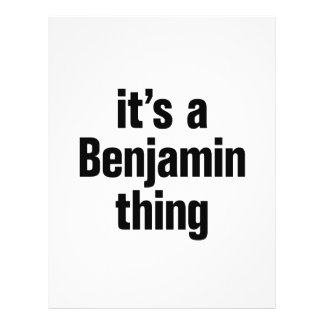 its a benjamin thing 21.5 cm x 28 cm flyer