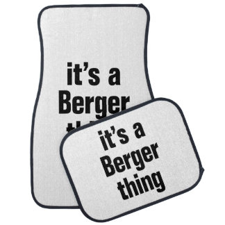 its a berger thing floor mat