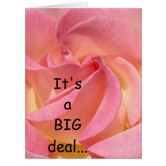It's a BIG deal big cards Pink Rose Flowers