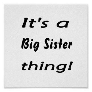 It's a big sister thing! poster