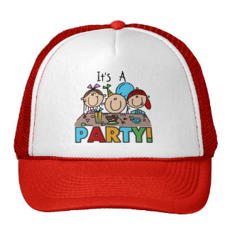 It's a Birthday Party T-shirts and Gifts Cap