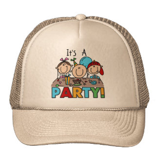 It's a Birthday Party T-shirts and Gifts Hats