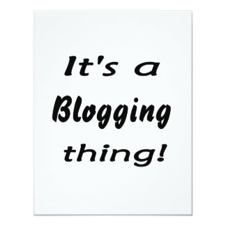It's a blogging thing! invite