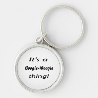 It's a boogie-woogie thing! Silver-Colored round key ring