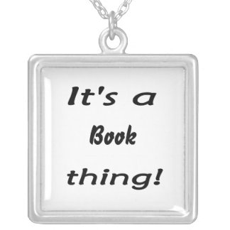 It's a book thing! square pendant necklace