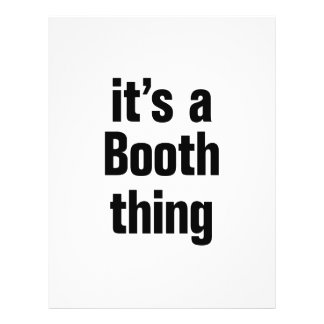 its a booth thing 21.5 cm x 28 cm flyer