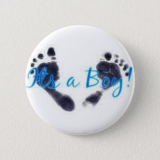 its a boy! 6 cm round badge