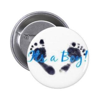 its a boy! 6 cm round badge
