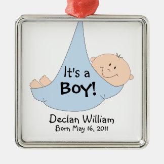 It's a Boy! Announcement Christmas Ornament