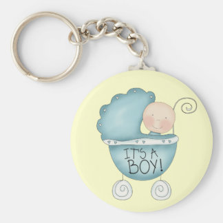 It's a Boy! baby carriage Key Ring