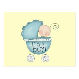 It's a Boy! baby carriage Postcard