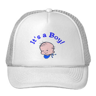 It's A Boy (Baby Face) Trucker Hats