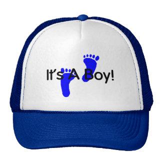 Its A Boy Baby Footprints Mesh Hat