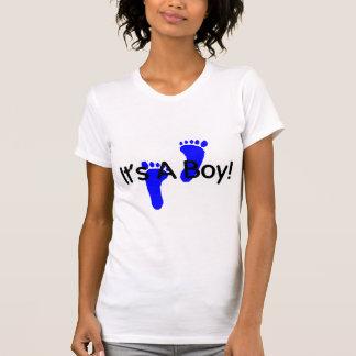 Its A Boy Baby Footprints T-shirt