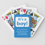 It's a boy! Baby Gender Reveal Cards Deck Of Cards