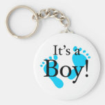 Its a Boy - Baby, Newborn, Celebration Basic Round Button Key Ring