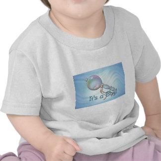 IT'S A BOY BABY RATTLE by SHARON SHARPE Tee Shirt
