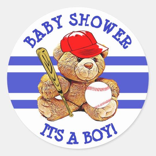 Its a Boy Baby Shower Baseball Teddy Bear