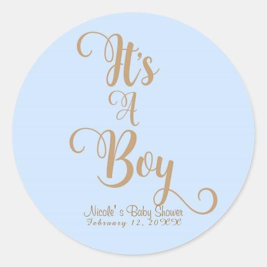 It's A Boy Baby Shower Blue & Gold