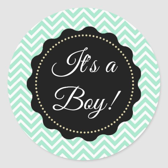 It's a Boy! Baby Shower Sage Green Stickers