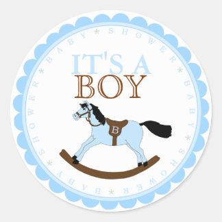 It's A Boy-Baby Shower Round Sticker