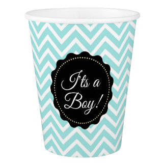 I'ts a Boy baby shower Teal Paper Cups