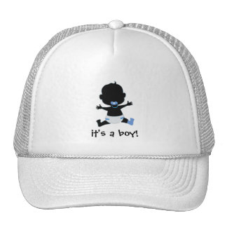 it's a boy - baby slihouette trucker hat