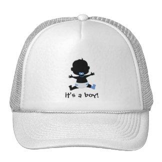 it's a boy - baby slihouette trucker hats