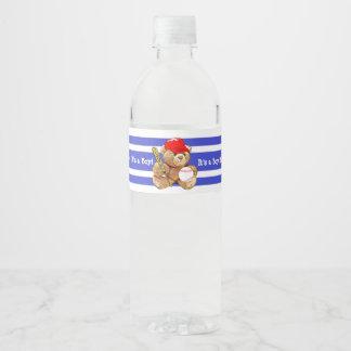 It's a Boy Baseball Baby Shower Water Bottle Label