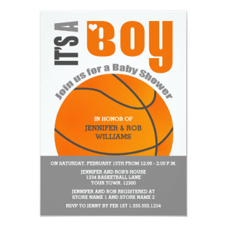 It's a Boy Basketball Couples Baby Shower Card