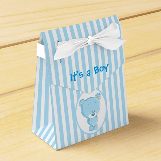 It's a Boy Bear Tent Favour Box
