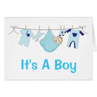 It's A Boy Birth Announcement Greeting Card