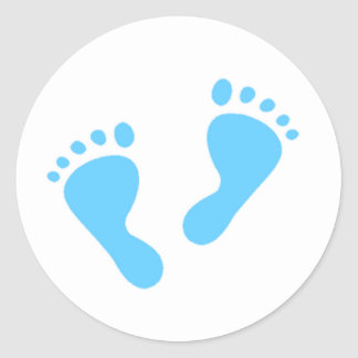 It's a Boy - Blue Baby Feet Round Sticker