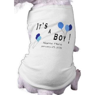 It's a Boy - Blue Balloons Shirt