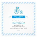 It's a Boy Blue Flat Announcement Card