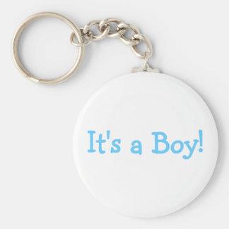 Its A Boy Blue Keychain