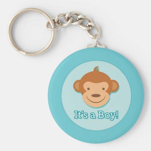 It's a Boy! - Blue Monkey Key Chain
