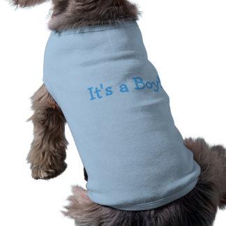 Its A Boy (Blue) Sleeveless Dog Shirt