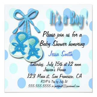 It's a Boy - Booties Baby Shower Invitations