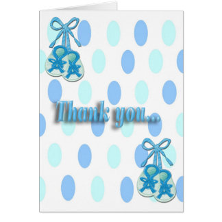 It's a Boy - Booties Shower Thank You note card