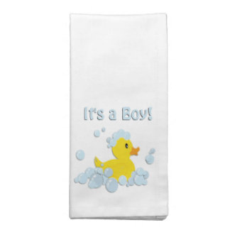 It's a Boy Bubble Baby Shower Napkin