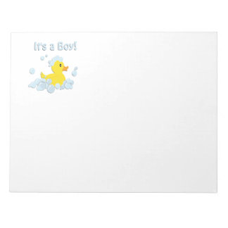 It's a Boy Bubble Baby Shower Notepad