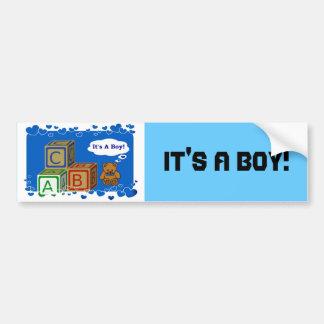 It's A Boy Bumper Sticker