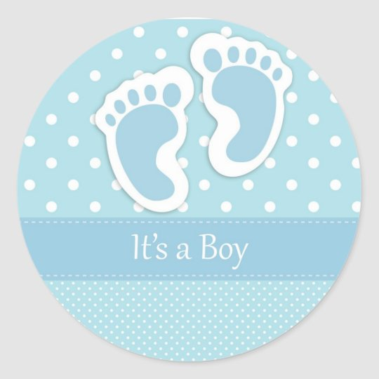 It's A Boy Classic Round Sticker