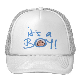 it's a boy! Customizable Hat