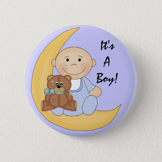 It's A Boy - Cute Baby Cartoon 6 Cm Round Badge